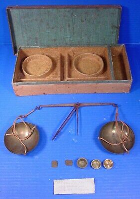 18th Century? Set of Gold Scales and Weights, likely French & Napoleon mentioned