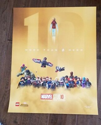 2018 Sdcc Comic Con Exclusive Marvel 10 Year Anniversary Lego Avengers Poster