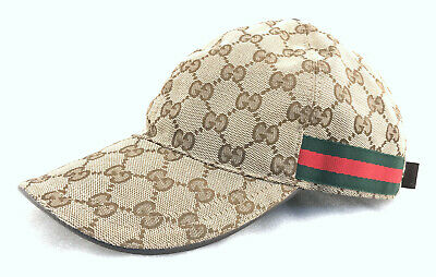 52b31ded069509 GUCCI ORIGINAL GG Canvas Baseball Hat with Web Size Small - $159.00 ...