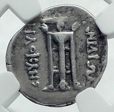 PHERAI in THESSALY Thessalian League  ARCHAIC 480BC Silver Greek Coin NGC i78511