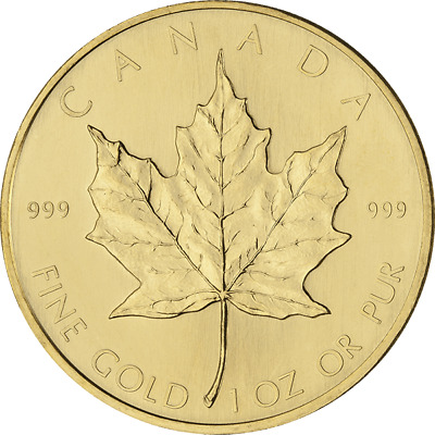 1 oz Gold Canadian Maple Leaf - Our Choice Date