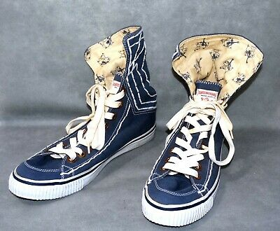 e30863d80 11.5 M Great True Religion Mens High Top Sneakers Blue Fold-Over Shoes Vegan