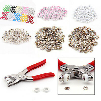 9.5mm Prong Ring Snap Fasteners/Press Studs Ring No Sew Button Dummy Clip Pliers