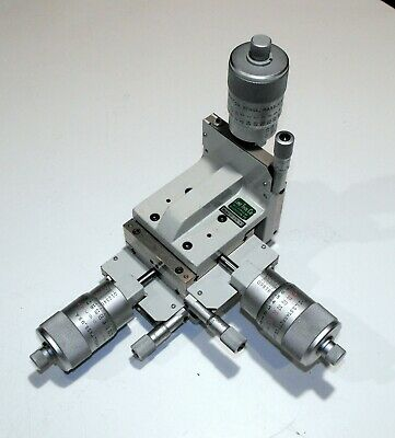 Line Tool H-LH FR 3-Axis Linear Stage w/ Starret Large Diameter Micrometers