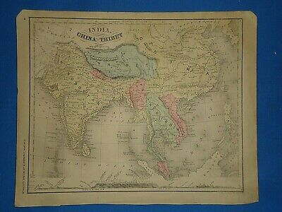 VINTAGE 1869 CHINA - TIBET - INDIA - ANAM Map Old Antique Original on schneider map, jvc map, alba map, scott map, siam map, atlantic map,