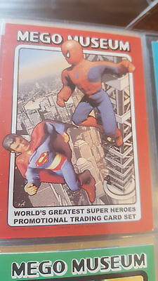 2006 Mego Museum Wgsh Superhéroes Checklist Promo Card Dc Spider-Man Superman