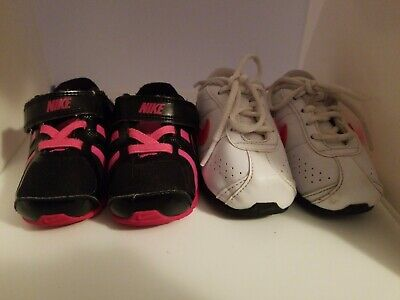 release date eed3e c6caa BABY NIKE SHOX Turbo 13 Sneakers Girls Size 4 Black Pink Lot of 2 Pairs of  Shox