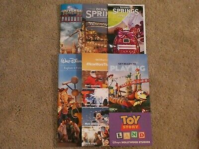6 Brand New Disney World and Universal Studios Informational Brochures with Maps