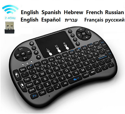 New Mini Wireless Keyboard Trackpad Remote Mouse for Android TV Box,Windows PC