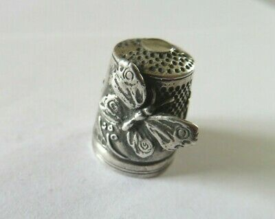 Vintage Silver Thimble Kay Thetford Kendall Butterfly London 1989