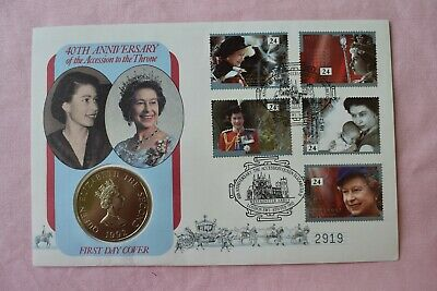 Royal Mint 40th Anniversary - Accession of Queen Elizabeth Alderney Two Pound £2