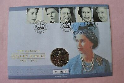 Royal Mint Queen's Golden Jubilee £5 Five Pounds Coin Cover 1st June 2002