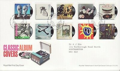GB Stamps First Day Cover Classic Album Covers, music etc SHS Head Phones 2010