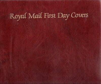 ROYAL MAIL FDC ALBUM GREAT CONDITION 17 DOUBLE SIDED INSERTS holds 68 FDCS ETC
