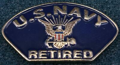 United State Navy Retired Insignia Seal Lapel Hat Pin Military PPM582