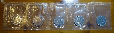 1969 Canada $1 Nickel Dollar Coins, mint sealed lot of 5