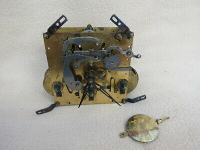 Vintage Foreign Westminster Chime Movement, Hands And Pendulum For Spares Or Rep