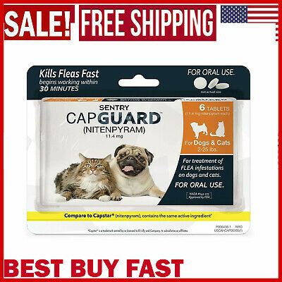 SENTRY Flea And Tick Killer Prevention Tablets Pills Meds For Pet Dogs And Cats