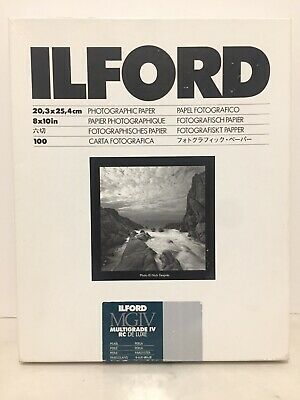 Ilford Photographic Paper 8X10 Multigrade IV RC Deluxe Pack Pearl 80 Sheets