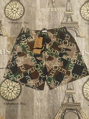 7680c14917 $550. NEW VALENTINO Butterfly Print Swim Shorts M/Italy Tag Size 48 ...