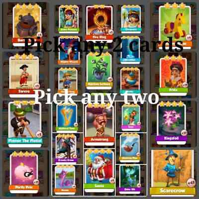 coin master cards   PICK ANY TWO  of the photo