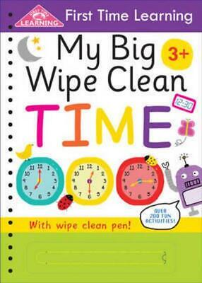 My Big Wipe Clean Time Book by First Time Learning Preschool Kids Gift NEW