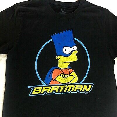 3c47dade7 Official Bart Simpson BARTMAN T-Shirt Men's Size Large The Simpsons Tee  BlackNEW