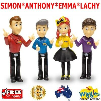 The Wiggles 4 Pack Figurine Set Simon Anthony Emma Lachy Figures Cake Toppers