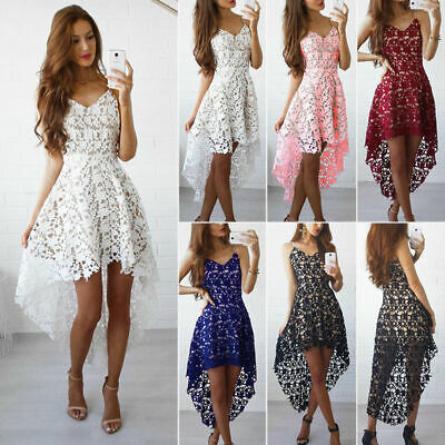 Women Lace Strappy Sleeveless Short Mini Dress Evening Cocktail Party Dresses