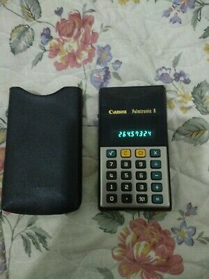 Vintage 1970's Canon Calculator Palmtronic 8m ,green led Display LD-8M 3,Works