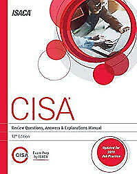CISA Review Questions, Answers & Explanations Manual 12th Edition P.D.F.