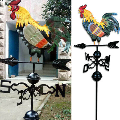 Metal Weathervanes Weather Rooster Ornament Garden Patio Decor Wind Blowing NEW