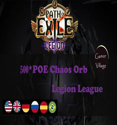 Chaos Orb Path of Exile POE 500 x Currency Legion  League Softcore SC 500C Item