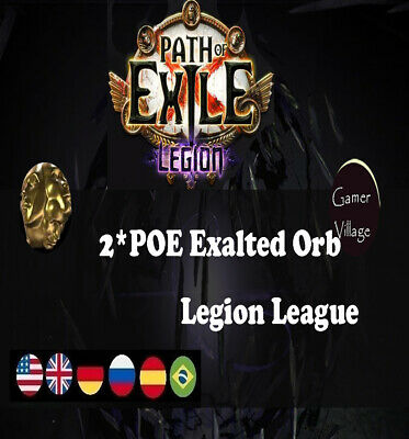 POE Currency 2 x Exalted Orb Path of Exile Legion League Softcore SC 2EX  NA/EU