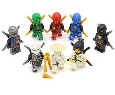 Lego Ninjago Sets Master Wu Kai Cole Nya Lloyd Zane Jay Model Building Toy