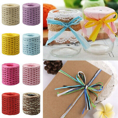 1 Roll Raffia Ribbon Paper String Rope Baking Handwork Wrapping DIY Craft