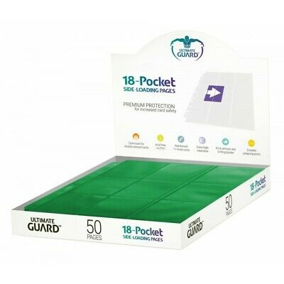 Ultimate Guard 18-pocket Pages Side-loading Green (50) (1141453)