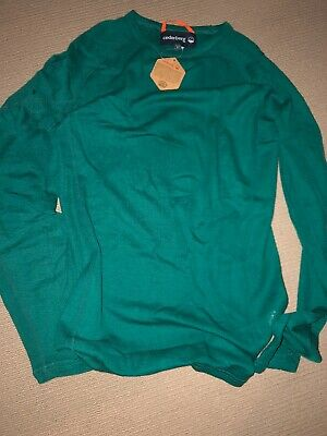 Merino 100% Thermal Long Top Cederberg Green Size L Adult Unisex Brand New