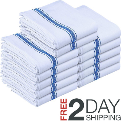 Utopia Towels 12 Pack Dish Towels 15 x 25 inches White Kitchen Towels, bar To...
