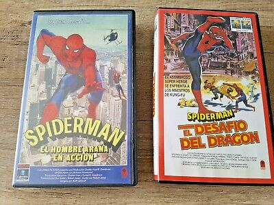 Lote Vintage 2 Peliculas Vhs Originales Spiderman 1978 Y Spiderman 2 1980