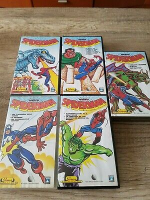 Lote Vintage 5 Peliculas Vhs Originales Spiderman Filmax Animation