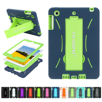 Kids Shockproof Case Heavy Duty Tough Kick Stand Cover for iPad 2 3 4 Mini Air 2