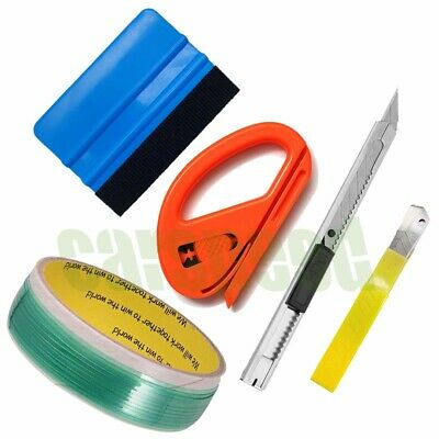 Knifeless Finish Line Tape Felt Squeegee 10 Blades Vinyl Car Wrapping Tools US