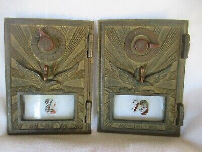 Vintage Post Office Mailbox Brass Eagle Door combination lock