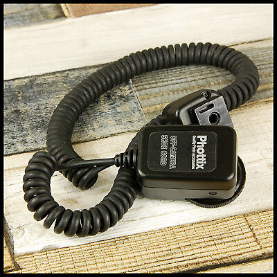 Canon EOS Digital fit Phottix Off Shoe Cord flash for DSLR + EX guns
