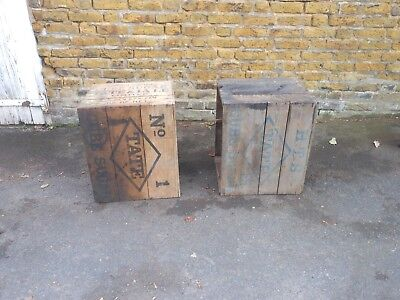 2 X Vintage TATE & LYLE  Wooden Packing Crates, Tea Chest,  Coffee Tables,