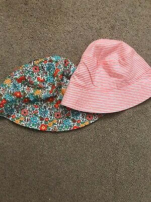 Brand New Next Summer Hats 3-4 Floral Striped  New