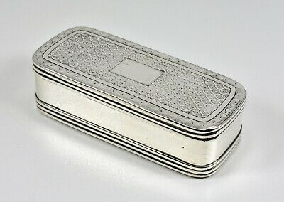 Antique English Georgian Solid Silver Snuff Box, (Matthew Linwood, 1812)