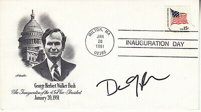 VICE PRESIDENT DAN QUAYLE (1947- ) hand signed 1981 autographed FDC #2 ]