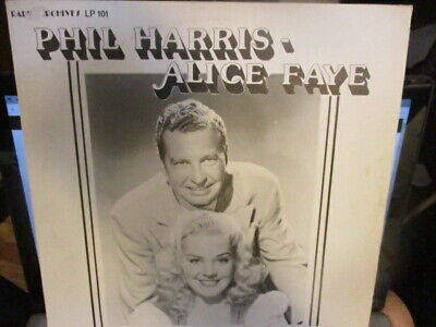 PHIL HARRIS & ALICE FAYE 2 Radio Broadcasts LP Radio Archives LP 101 NM/VG
